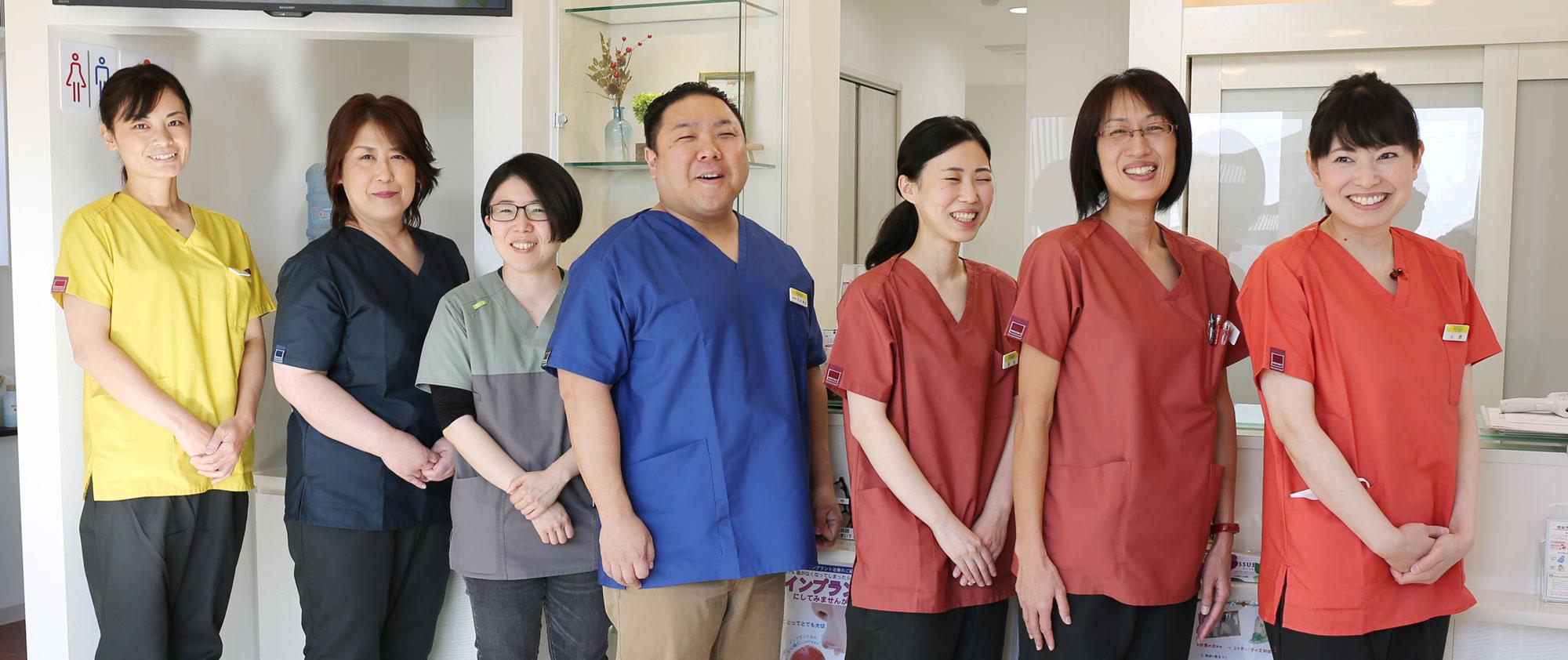 岡山県瀬戸内市内の歯医者 おさふねフレンド歯科 スタッフ一同